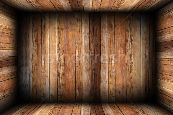 Achtergrond houten kamer alle afgewerkt Stockfoto © taviphoto