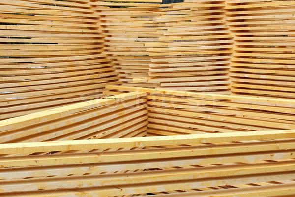 Deszkák száraz fűrészmalom textúra minta törött Stock fotó © taviphoto