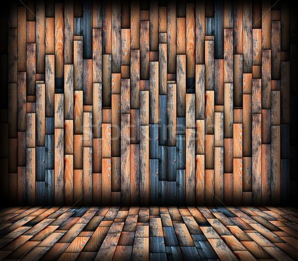 Foto stock: Camadas · madeira · parede · arquitetônico · interessante
