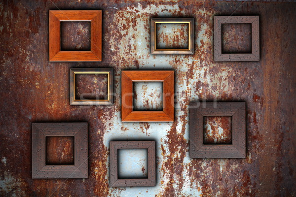 picture frames on abstract surface Stock photo © taviphoto