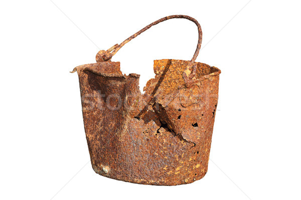 isolated damaged rusty tin Stock photo © taviphoto