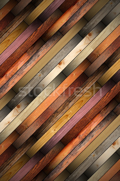 wooden tiles mounted on the floor Stock photo © taviphoto