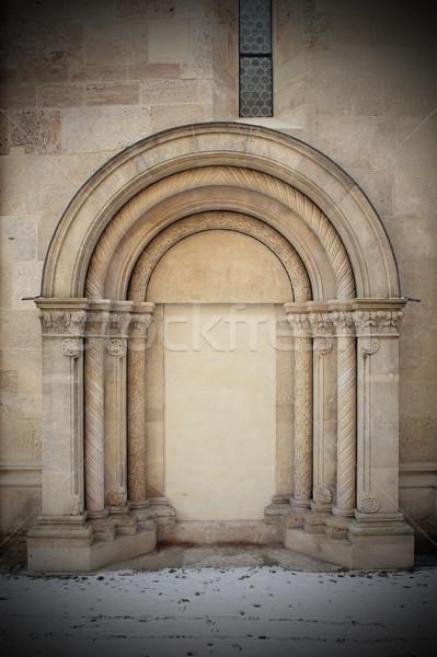 detail on romanic church Stock photo © taviphoto