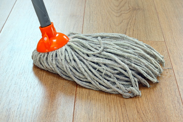 cleaning wooden floor Stock photo © taviphoto
