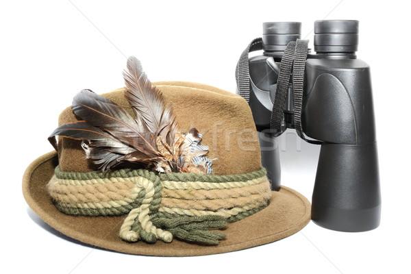 hat and binoculars Stock photo © taviphoto
