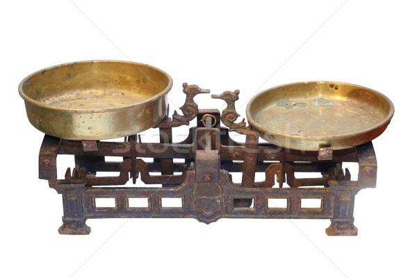 old metallic weighing scale Stock photo © taviphoto