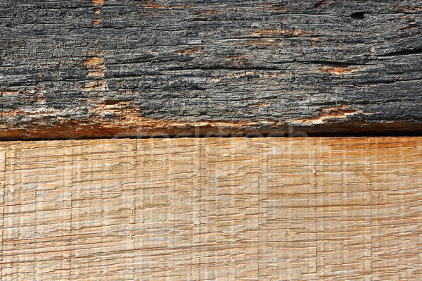 Tölgy fa textúra új öreg viharvert deszkák Stock fotó © taviphoto