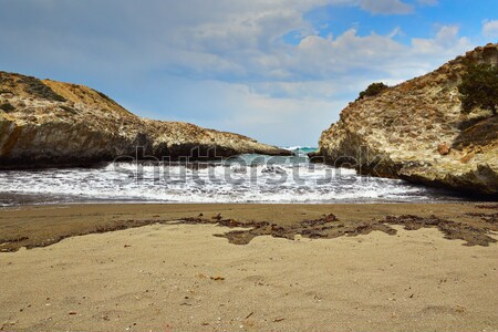 beautiful beach with rock formations in Milos Stock photo © taviphoto