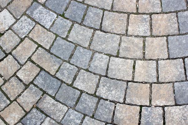 Rettangolo pietra marciapiede urbana pedonale strada Foto d'archivio © taviphoto