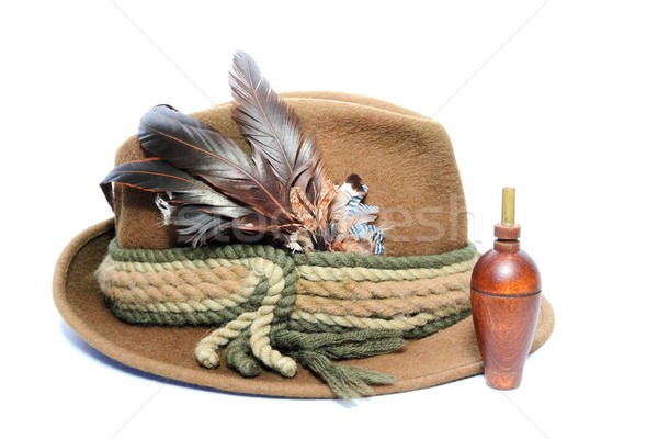 old hunting hat and game call Stock photo © taviphoto