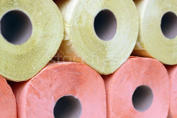 Carta igienica rosa giallo dettaglio texture Foto d'archivio © taviphoto