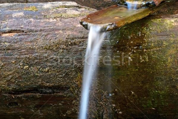 Fonte acqua primavera legno canale natura Foto d'archivio © taviphoto
