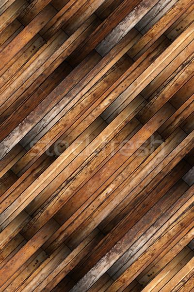 Stock photo: detailed old mahogany parquet