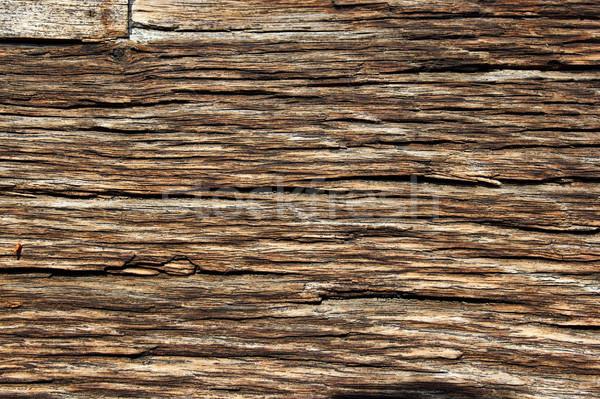 fibers on old oak wood Stock photo © taviphoto