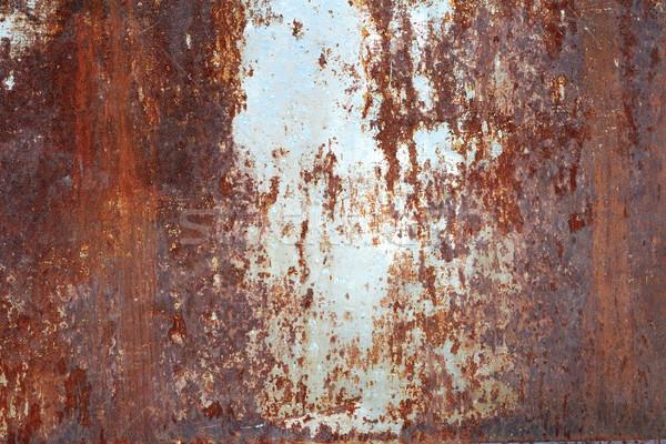 Ruggine superficie metallica metal texture vernice arancione Foto d'archivio © taviphoto