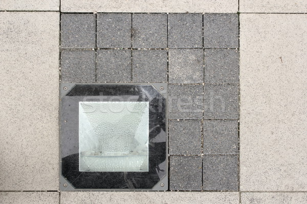 light source on stone pavement Stock photo © taviphoto