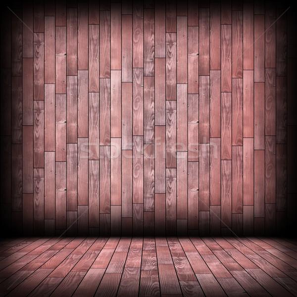 Stock photo: empty architectural indoor wooden room