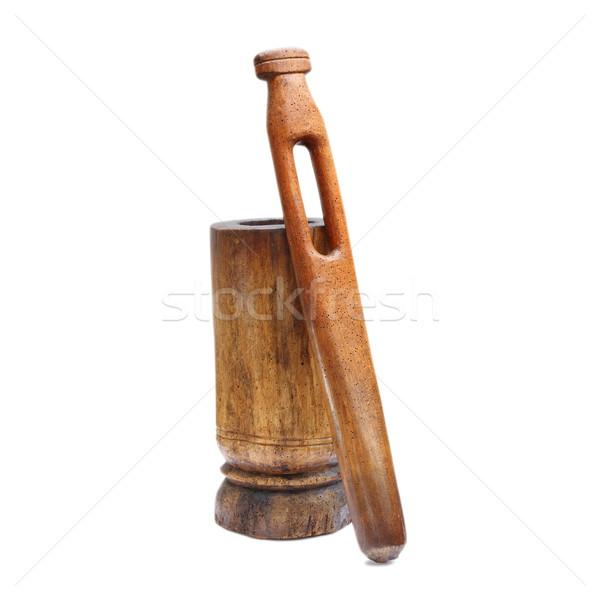 古い 風化した 木製 グラインダー 白 木材 ストックフォト © taviphoto