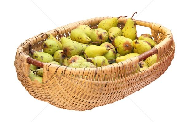 wattle basket full of bio pears Stock photo © taviphoto