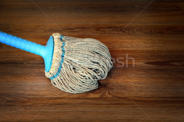 closeup of mop on the floor Stock photo © taviphoto
