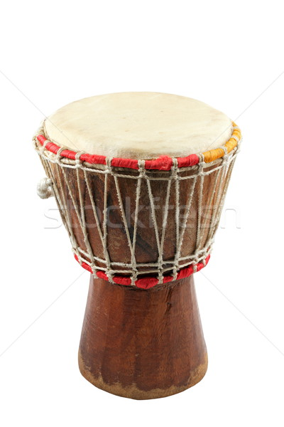 african djembe on white background Stock photo © taviphoto