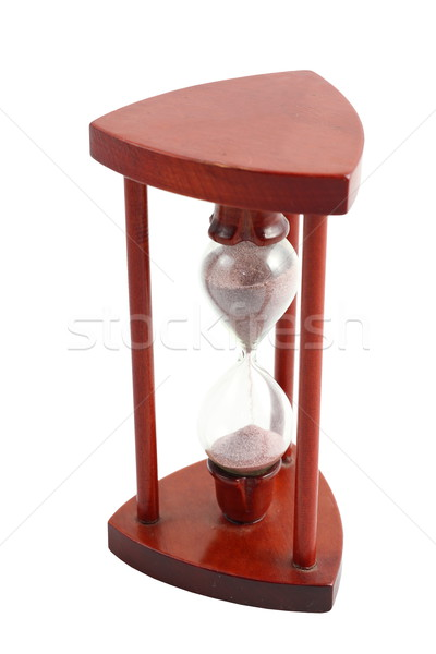 isolated wooden hourglass Stock photo © taviphoto