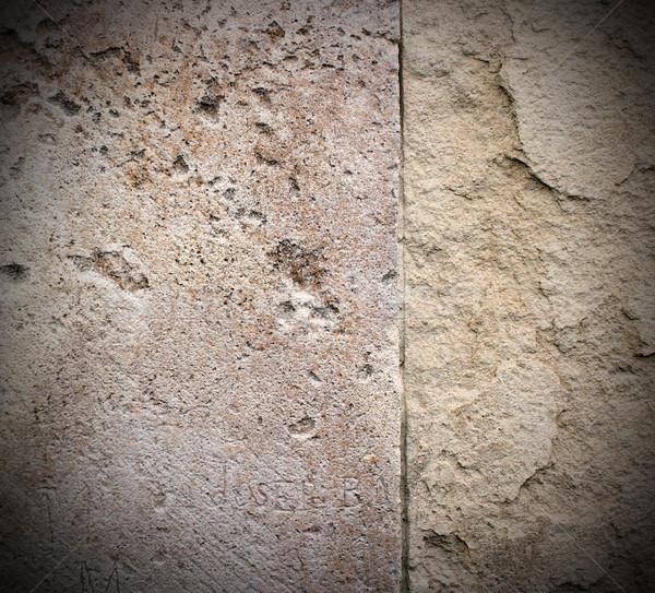 Gebarsten oude steen textuur klaar ontwerp Stockfoto © taviphoto