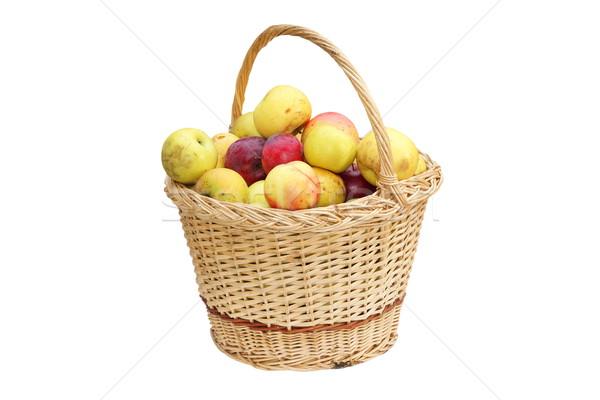 El yapımı sepet elma iştah açıcı biyo yalıtılmış Stok fotoğraf © taviphoto
