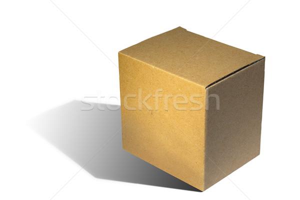 brown carton box on white background Stock photo © taviphoto