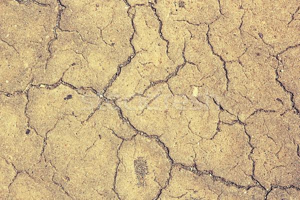 Pęknięcia asfalt powierzchnia real tekstury projektu Zdjęcia stock © taviphoto