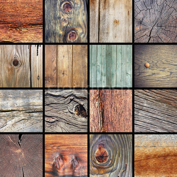 collection of damaged wood textures Stock photo © taviphoto