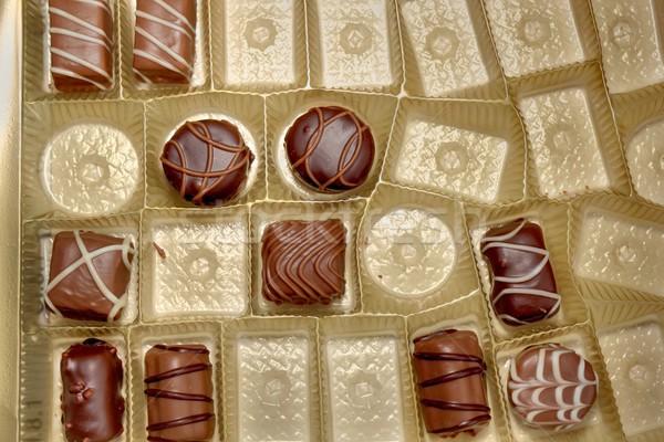 部分 糖果 框 不同 巧克力 糖果 商業照片 © taviphoto