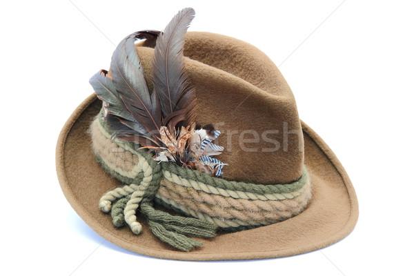 Geleneksel dekore edilmiş avcılık şapka moda dizayn Stok fotoğraf © taviphoto