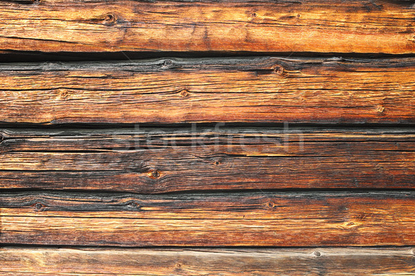 pine logs wall texture Stock photo © taviphoto