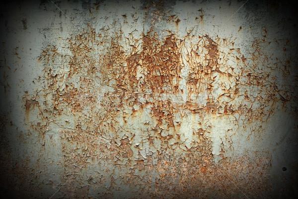 rusted painted metallic board Stock photo © taviphoto