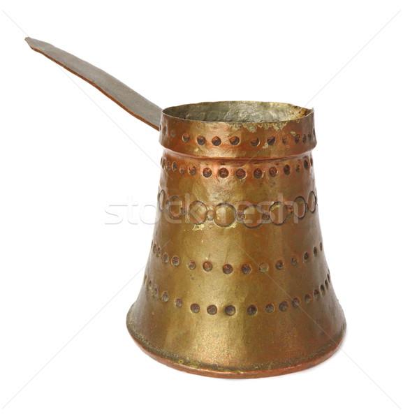 Edad cobre tetera tradicional blanco beber Foto stock © taviphoto