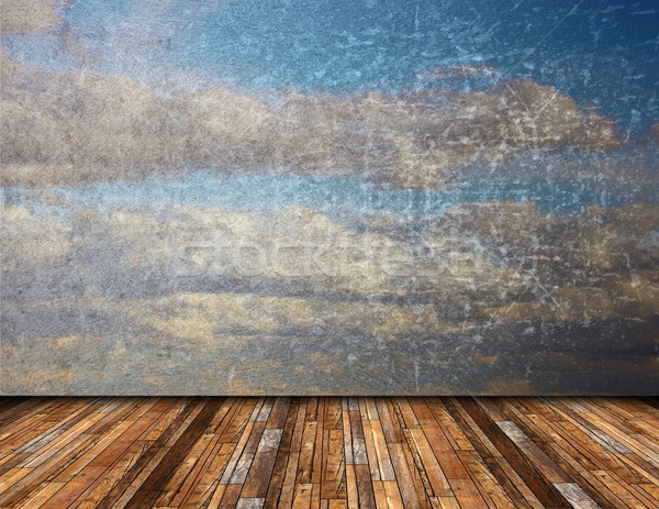 abstract view of distressed sky from terrace Stock photo © taviphoto