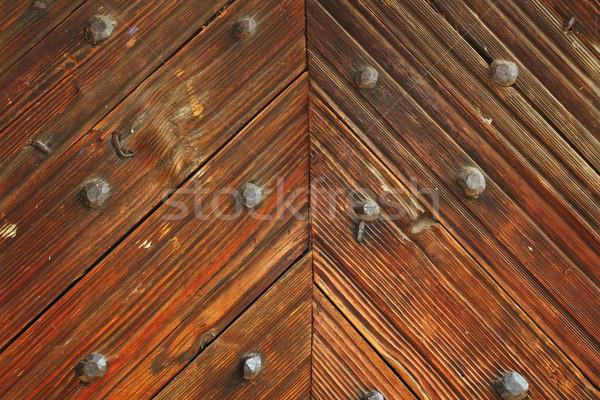 интересный шаблон древесины двери румынский традиционный Сток-фото © taviphoto