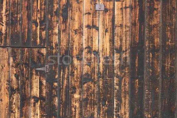 Viharvert fenyő deszkák régi ház igazi textúra Stock fotó © taviphoto