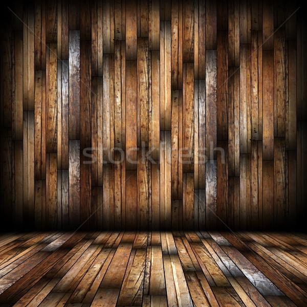 Mahagóni befejezés belső háttér üres építészeti Stock fotó © taviphoto
