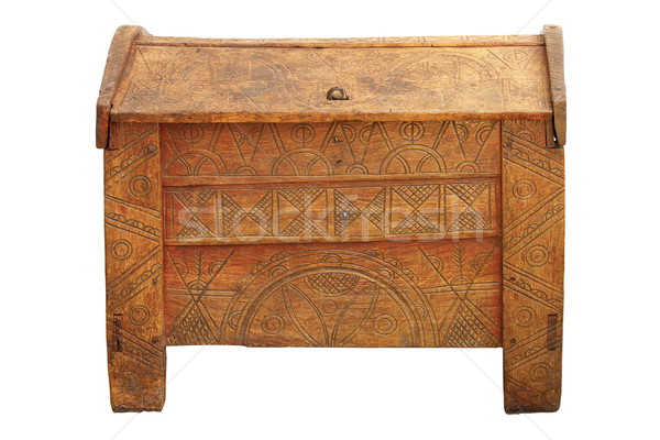 traditional dowry coffer made of oak wood Stock photo © taviphoto