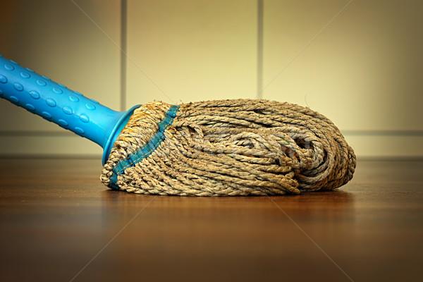 plastic mop on wooden floor Stock photo © taviphoto