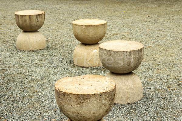 Pormenor tabela silêncio abstrato pedra monumental Foto stock © taviphoto