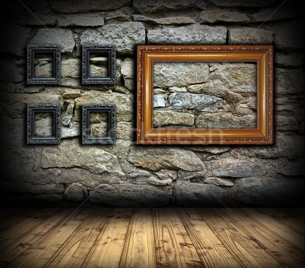 Stonewall madeira pintura quadros madeira velha vazio Foto stock © taviphoto