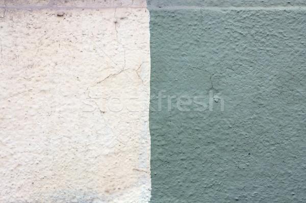 クローズアップ 2 色 石膏 壁 テクスチャ ストックフォト © taviphoto