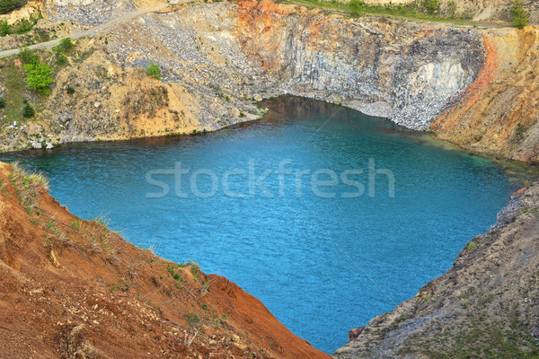 lake in old abandoned quarry Stock photo © taviphoto
