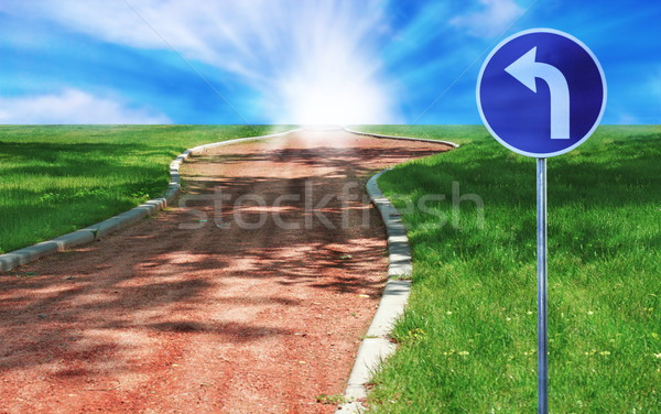cinder path in the field Stock photo © taviphoto