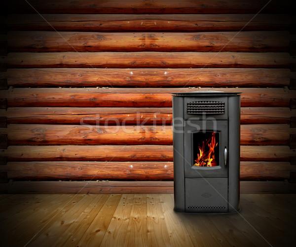 wooden cabin interior background Stock photo © taviphoto