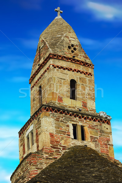 the tower of Densus church Stock photo © taviphoto
