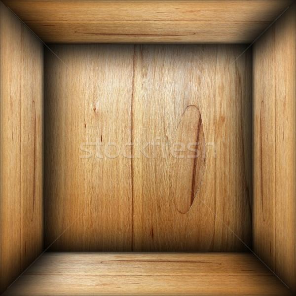 abstract interior of plywood box Stock photo © taviphoto